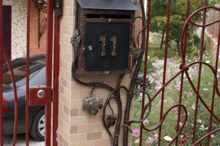 Кованые почтовые ящики